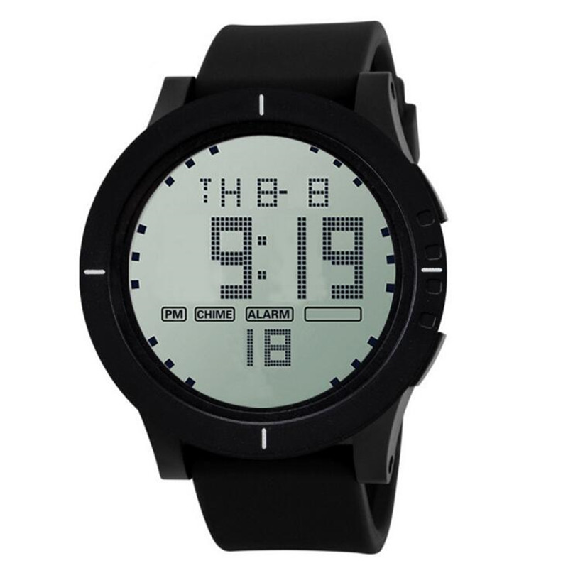 Big Screen Luminous Multifunction Outdoor Waterproof Relogio Digital mens Watches LED Sports Electronic Black Watch Montre E58