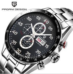 Image 1 - PAGANI עיצוב שחור חיוג משולב קוורץ הכרונוגרף tachymeter mens שעון