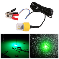 white light 15W LED Underwater Night Fishing Light 360 Degree 12V LED Fish Lure Lamp with 5.5M Cord Yellow/White/Green (1)