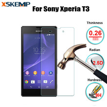 Tempered Glass For Sony Xperia T3 M50w Style No Fingerprint Premium 9H Glossy Explosion Proof Anti Shatter Screen Protector Film