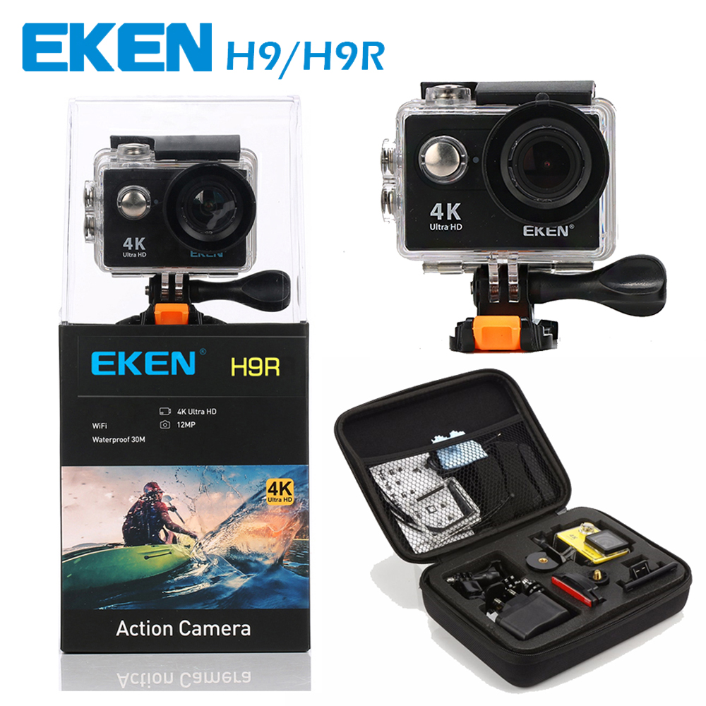EKEN H9 / H9R Action camera Ultra HD 4K / 25fps WiFi 2.0 170D underwater Camera waterproof Cam Helmet Camera Sport Camera