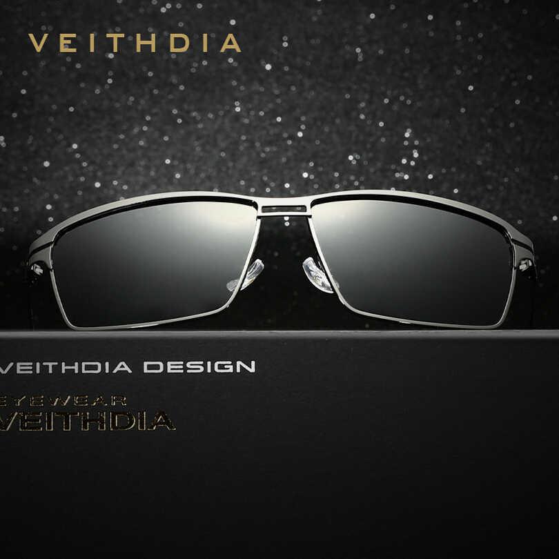 VEITHDIA 2017 новые мужские солнцезащитные очки из нержавеющей стали поляризованные для вождения Oculos masculino мужские очки Аксессуары Солнцезащитные очки