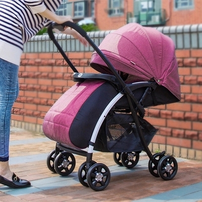Carrinho de bebê outono e inverno nova alta paisagem pode sentar pode ser bi-direcional empurrar para crianças carrinho de criança carrinhos