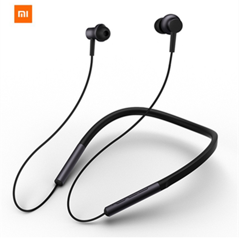 Original Xiaomi Bluetooth Collar Earphone Headset With Mic Sports Wireless Earbuds Bluetooth 4.1 Dual Driver Xiaomi Headphone