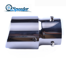 ESPEEDER Universal Auto Car Stainless Steel Exhaust Tip Pipe Car Tails Car Styling Muffler Vehicle Dual Letout