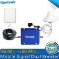 Полный Комплект GSM 900 МГц 4 Г DCS LTE 1800 МГц Сотовый Телефон дб Мобильный Усилитель Сигнала Повторитель Усилитель С панельная антенна