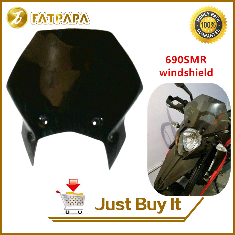 KTM 690  SM MR Free Shipping Motorcycle ABS Plastic Lens Front Windshield Fit For KTM690sm / 690SMR Windshield