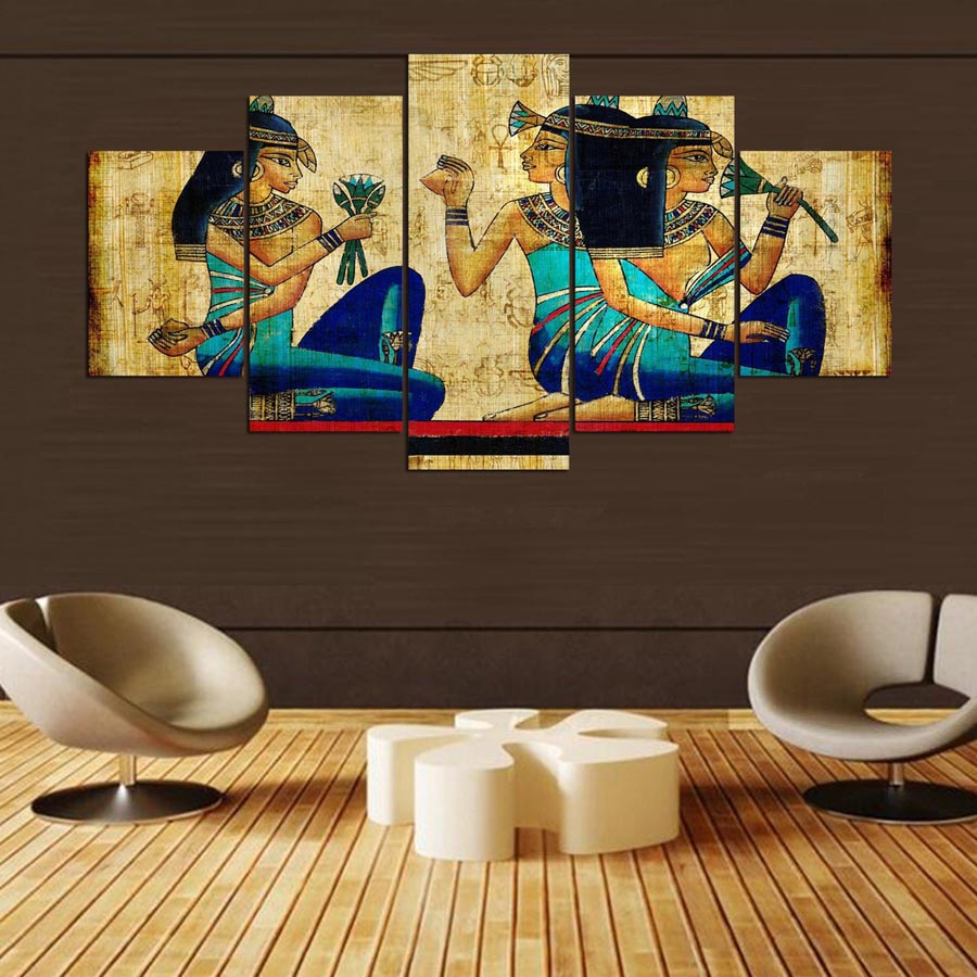Malerei Kunst Wand Modulare Bild Für Wohnzimmer Rahmen 5 Panel Alten ...