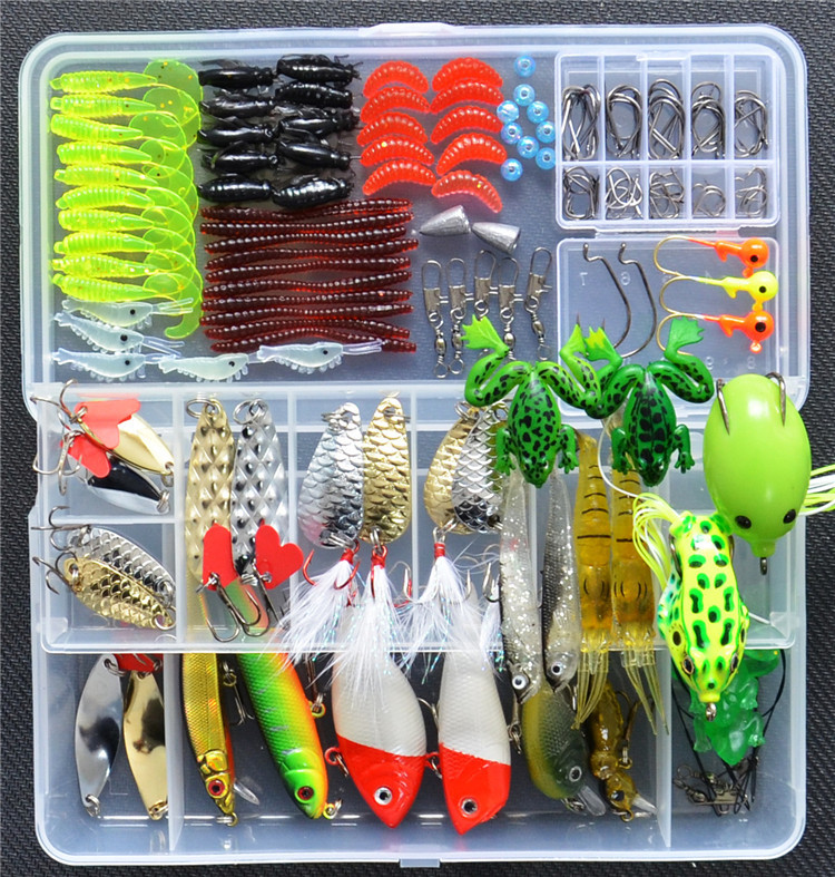 165 pieces new suit freshwater sea bait lures Lure soft bait lures sequined suit Ray frog suit y0018 wholesale ray frog sets playing blackfish bait lures bait floating frog bait fishing