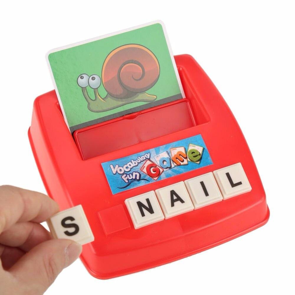 Детская алфавит карты буквы английского алфавита Игра-Головоломка обучающие игрушки слово картина матч развивающие игрушки подарок для де...