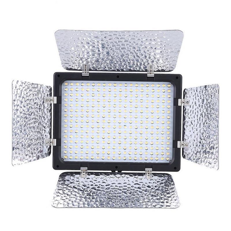 FW1S 300 LEDs Photo Video Light Lamp Panel Studio Portrait Dimmer for Camera
