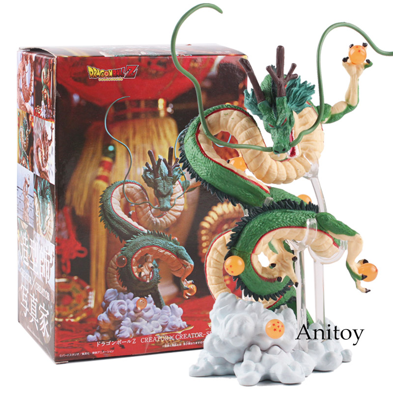 Japan Anime Dragon Ball Z Figure Shenron Winding Dragon Action Figure PVC Toy Gift 14.5~15.5 cm elf ball pikachu japan anime monster balls foldable shopping bag pencil case storage bags key chain comics figure model toy gift
