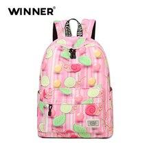 Победитель женщины рюкзак милые животные печатает дорожная Back Pack школьные сумки рюкзаки для девочек-подростков школьная сумка рюкзак конструктор