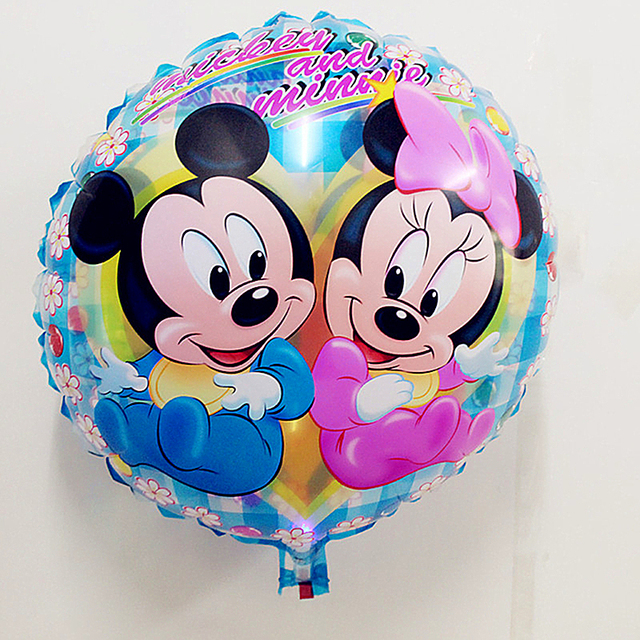 Kids Toys Mickey Mouse Balloon Decoration Minnie Mouse Party