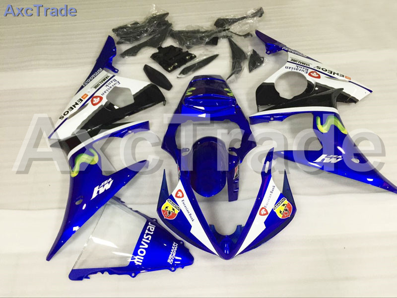 Motorcycle Fairings Kits For Yamaha YZF600 YZF 600 R6 YZF-R6 2003 2004 2005 03 04 05 ABS Injection Fairing Bodywork Kit Blue motorcycle part front rear brake disc rotor for yamaha yzf r6 2003 2004 2005 yzfr6 03 04 05 black color