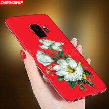 Чехол для samsung Galaxy A6 A8 S8 S9 J2 Pro J4 J6 плюс J8 J3 J5 J7 Neo Core Grand Prime Note9 3D мягкой ткани с цветочным принтом цвета: крышка