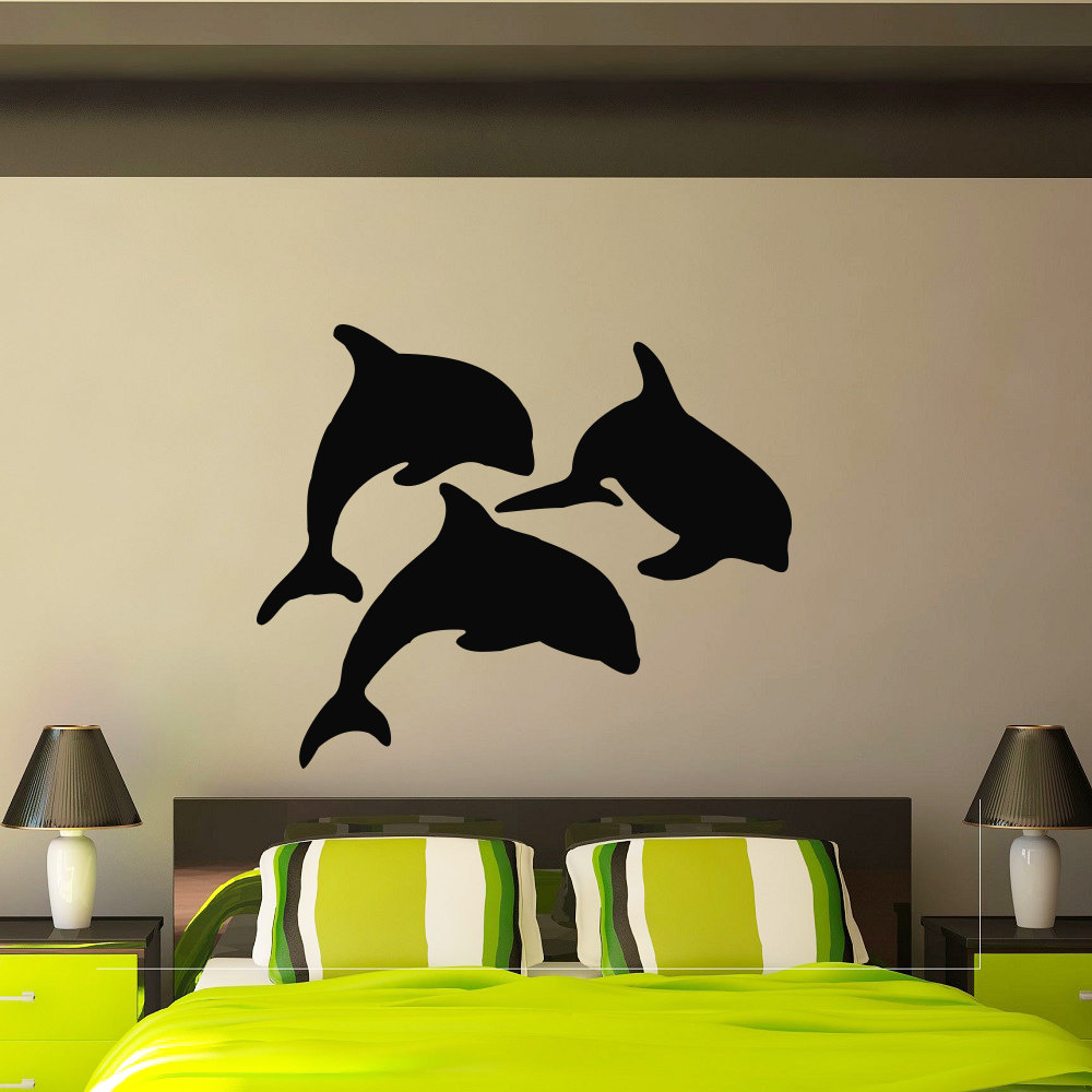 Interior Design Animal Wall Stickers Ocean Sea Dolphin ...