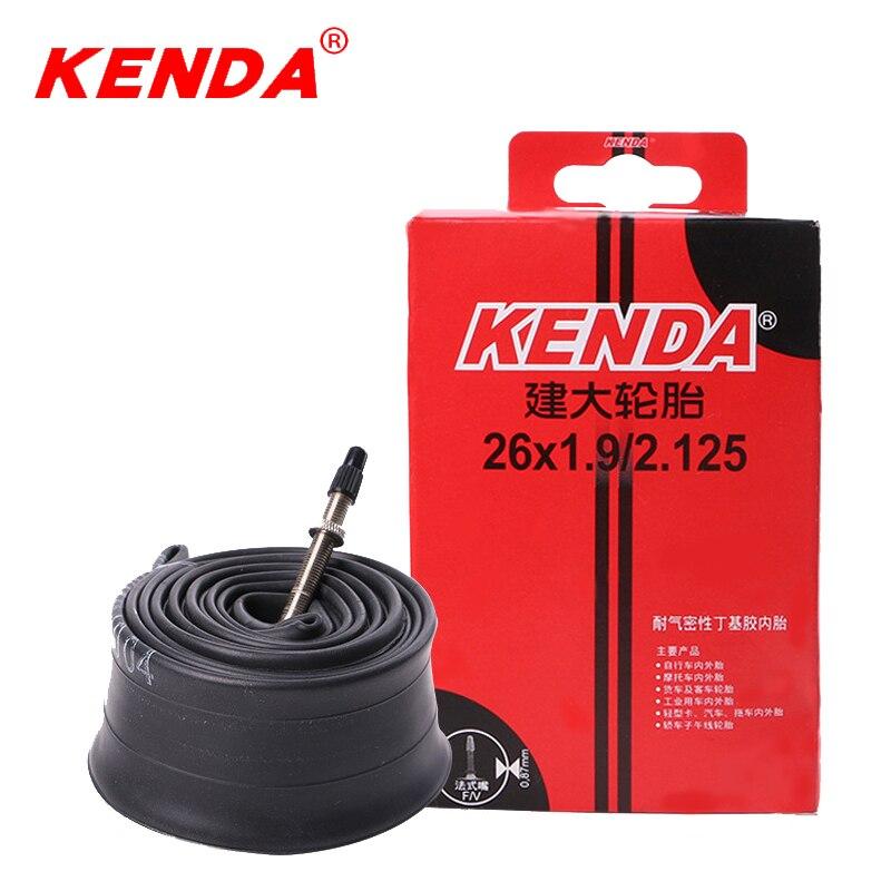лучшая цена KENDA inner tube 26 camera 26*1.9-2.125 Schrader Presta bicycle inner tube 26er mountain bike tubes tire chambre air 191g