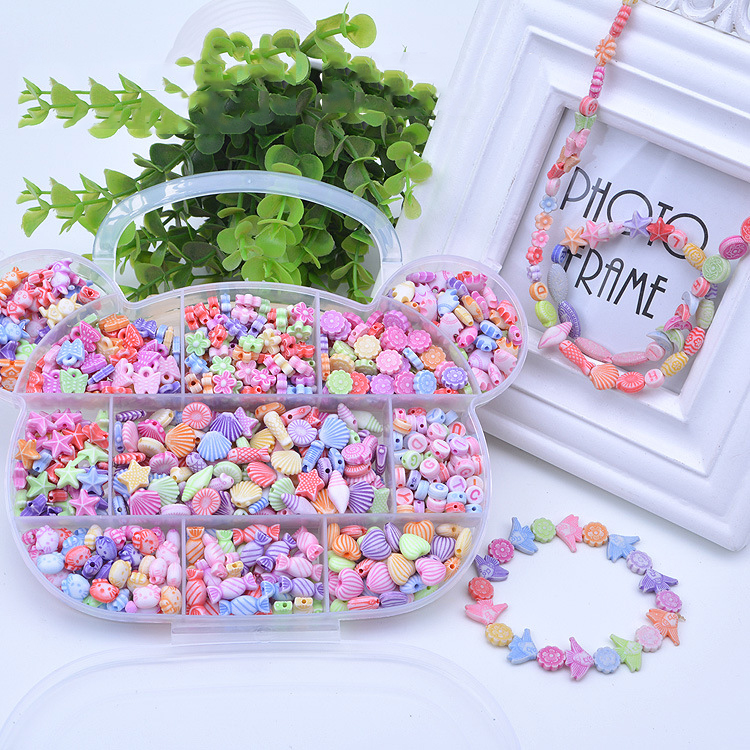 Beads Toys Girl Handmade Wear Necklaces Bracelets Beads Educational Toys Jewelry Making Toys Children Creative Gift