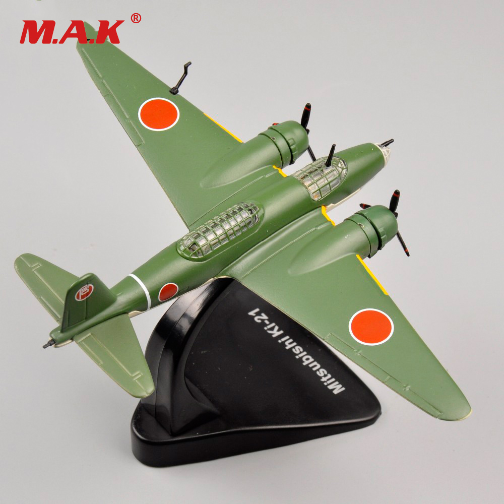 US $14 81 7% OFF|Cheap Children Toys 1/144 Scale WWII Alloy Diecast Fighter  Mitsubishi Ki 21 Airplane Model Kids Toys Child Birthday Gifts-in Diecasts
