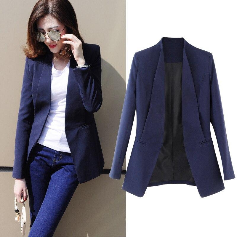 Plus Size 3XL Elegant Work Wear Long Blazer Women Long Sleeve Small Suit  Jacket Women Blazer. US  47.58. Autumn Winter Knitted Sweater Dress ... 924acd7405f7