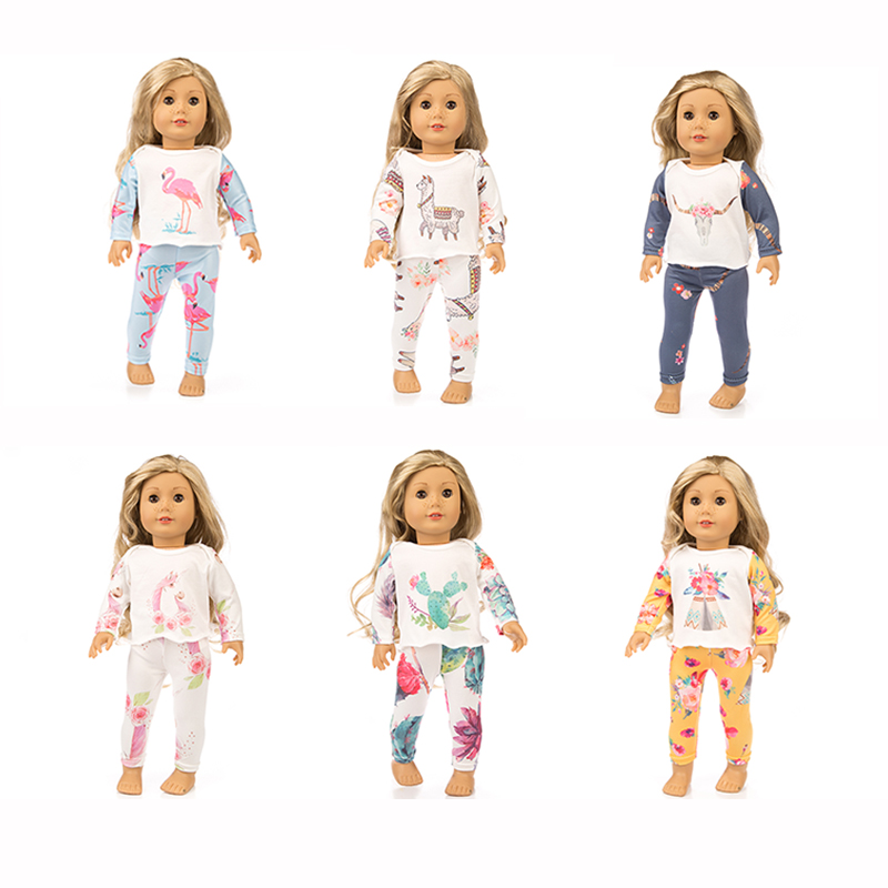 New Fashion Pajamas Fit For American Girl Doll Clothes 18-inch Doll , Christmas Girl Gift(only Sell Clothes)