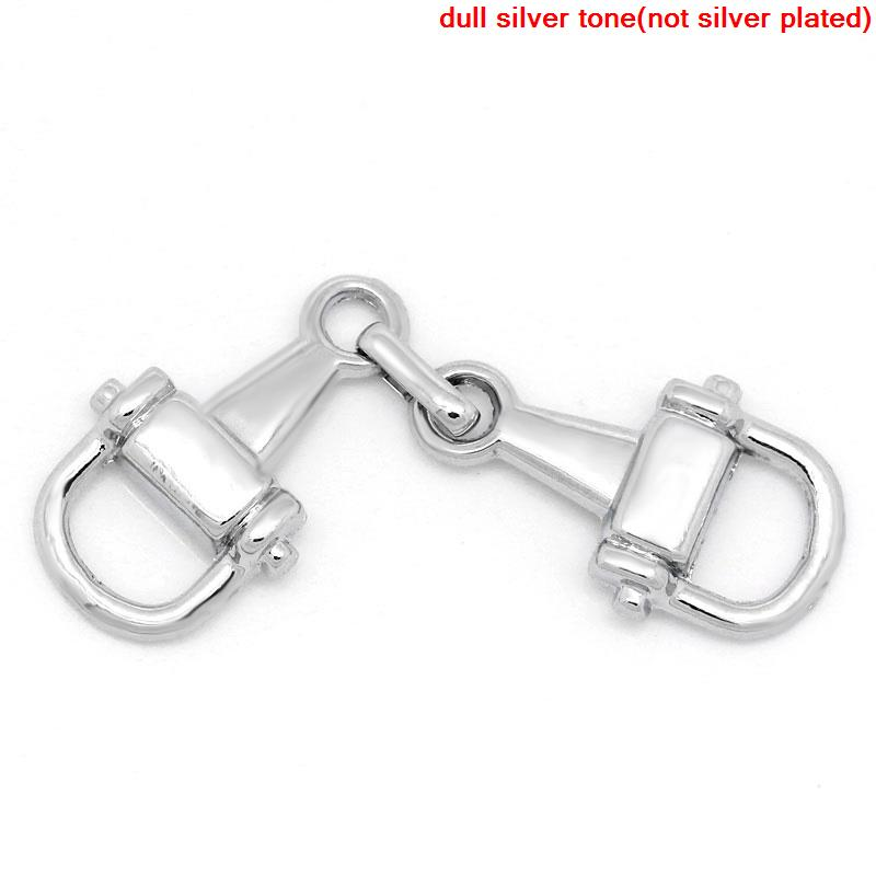 Zinc Metal Alloy + Alloy Connectors Findings Opener Silver Color 4.8cm(1 7/8