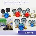 Copper Oxygen Acetylene Propane Argon Nitrogen meter Reducer Pressure reducing valve Carbon dioxide heating pressure gauge
