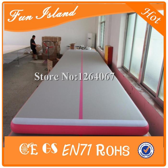 Envío gratis 12x2 m de alta calidad 0.9mm PVC inflable Airtrick Mat, - Deportes y aire libre
