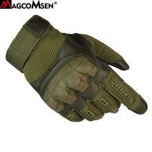 MAGCOMSEN rękawice taktyczne męskie zimowe wojskowe szturmowe pełne rękawiczki przeciwpoślizgowe rękawice bojowe rękawice robocze akcesoria wojskowe