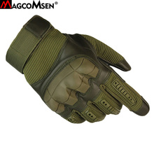 Magcomsen戦術的な手袋男性の冬の軍事暴行フルフィンガーグローブ滑り止め戦闘手袋作業ミトン軍アクセサリー