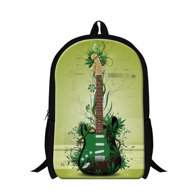 New Fashion Guitar 3D Print Children Backpacks Student Shoulder School Bags  Rucksack Female Casual Travel Bags Free shipping fc0812c2cbf55