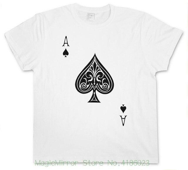 pik karte Ace Of Spades I T shirt Spade Ace Poker Card Casino Las Karte