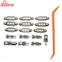 16pcs White Car LED Light Canbus Interior Lamp Package For VW Passat B6 2006 2010