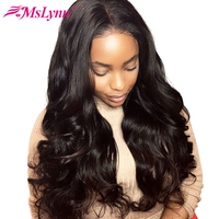 360 Lace Frontal Wig Pre Plucked With Baby Hair Lace Front Human Hair Wigs For Women Malaysian Body Wave Wig Mslynn Remy Hair