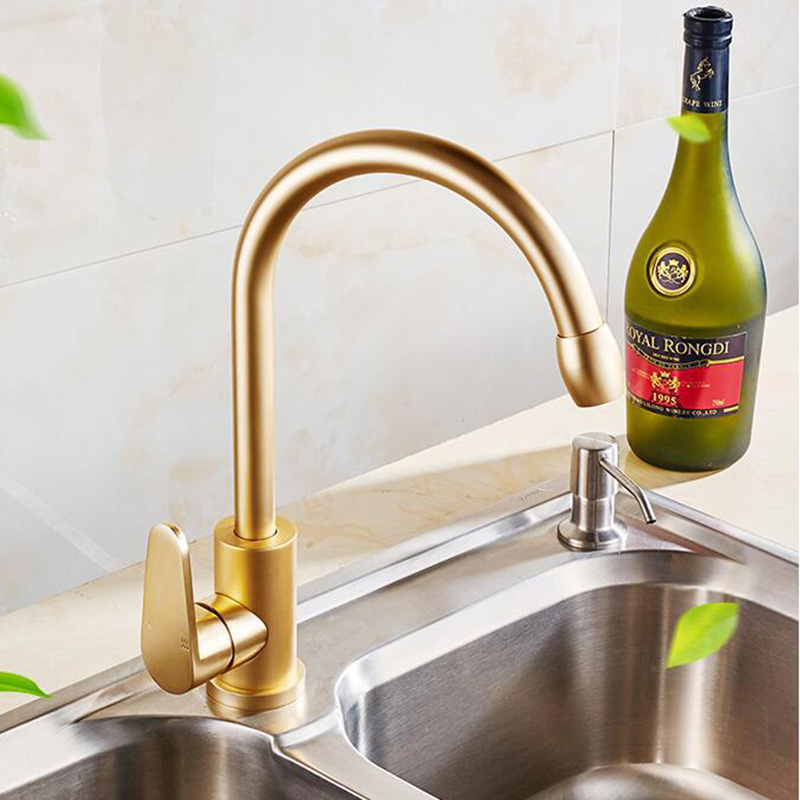 MTTUZK Free Shipping Best Quality Space Aluminum Basin Faucet And Polished  Rose Golden Kitchen Sink Faucet Hot Cold Water Tap In Kitchen Faucets From  Home ...