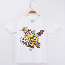 Hot Sale Fashion Short Sleeve Kids T-Shirt 100% Cotton Cartoon 3D Printed Bee Children Clothing Girl Baby Tops Tee Child T Shirt