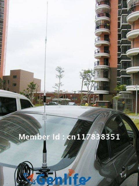 2-way radio antenna package:dual band antenna SG7200+5m cable+RB400 clip mount both 136-174 400-480M high gain