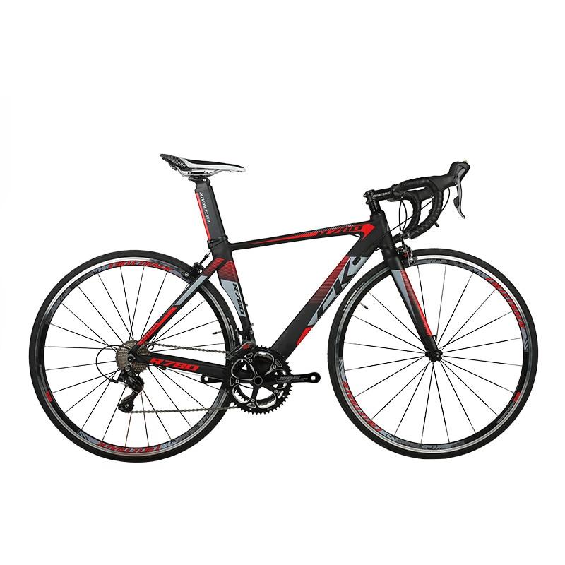 RichBit Ultra Light Road Race Bicycle 18 Speeds 9 Gears Cassette Carbon Fiber Fork Shimano 3500 Aluminum 700C*46/48cm Road Bike