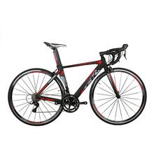 RichBit ultralekki szosowy wyścig rowerów prędkości 18 9 biegów kaseta z włókna węglowego widelec Shimano 3500 aluminium 700C * 46 48 cm rower szosowy tanie tanio Ze stopu aluminium ze stopu aluminium 18 prędkości 9 3 kg 150-180 cm 11 1 kg Zwyczajne pedału Pokój v hamulca 150 kg