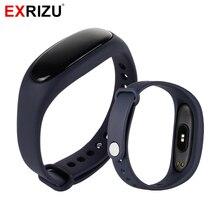 Exrizu DS3 монитор сердечного ритма Смарт Браслет Шагомер шагов, калории вызова сообщение напоминание часы умный Браслет для iPhone Android
