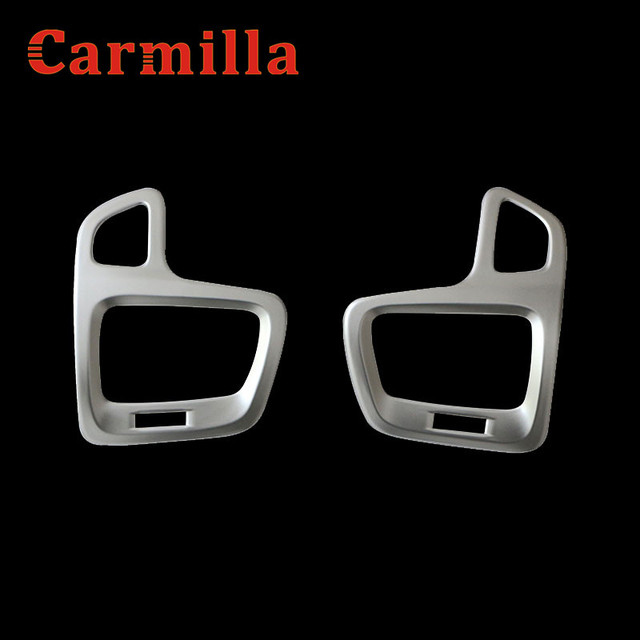 Carmilla ABS Chrome Car Air Vent Protective Cover Air Conditioner Outlet Trim Sticker for Jeep Compass 2017 2018 Accessories