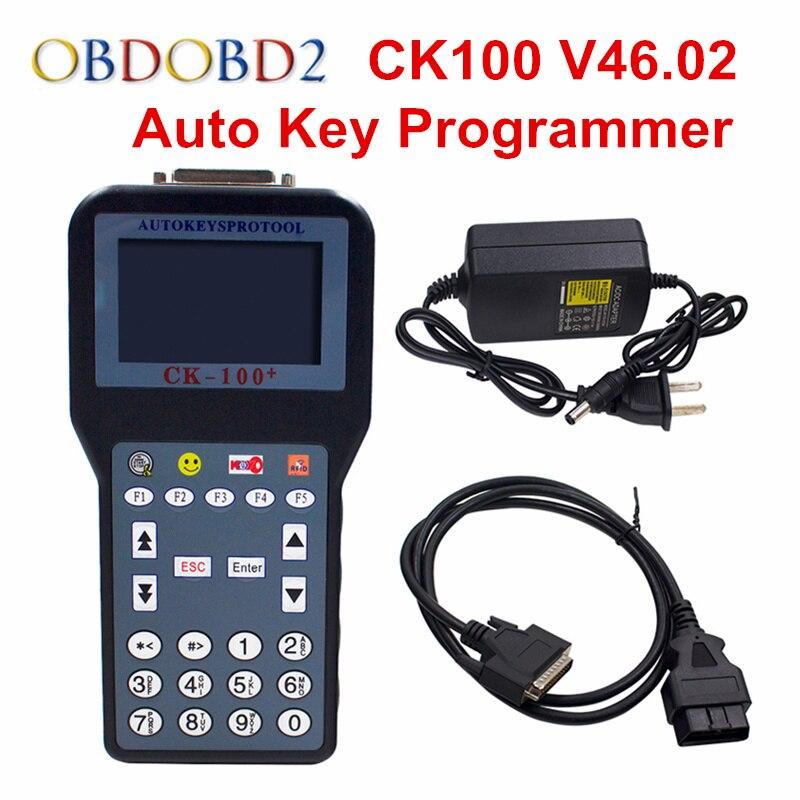 Последний СК-100 CK100 V46.02 Автоматический ключевой программер новое поколение sbb для программирования CK100 с многоязычным ключевой Создатель