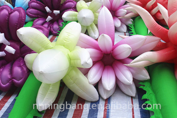 Free shipping length 12m inflatable flower chain for event decorationFree shipping length 12m inflatable flower chain for event decoration