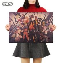 TIE LER Классическая коллекция японских персонажей аниме плакат ретро крафт-бумага кафе декоративные картины наклейки на стену 50*35 см