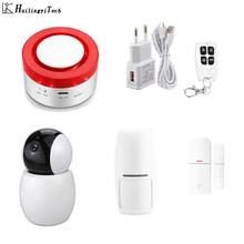 Tuya Smart Home Security WiFi Alarm Siren for Smart Life Free APP Compatible Wireless Smart IP Camera smartyiba app push sms voice monitoring wireless wifi smart home burglar alarm sensor alarm with ip camera wireless siren horn