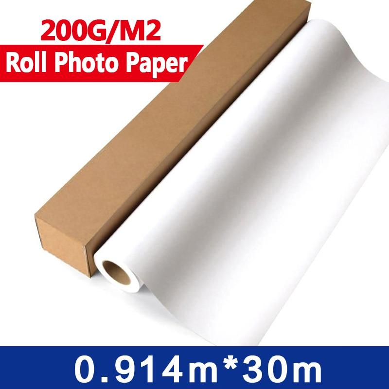 4Rolls/Lot Glossy Photo Paper Roll  0.914m x 30m   for width format inkjet printers  36 x 30 meters 180dpi encoder strip for wide format inkjet printers l5000mm x w15mm