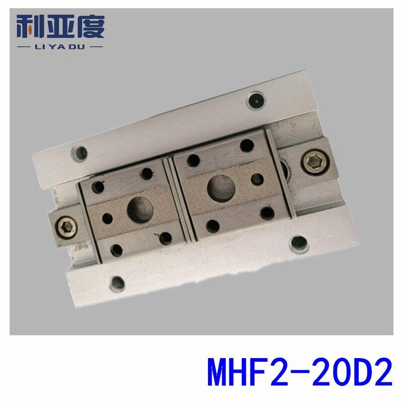 Taille mince pneumatique d'alésage de griffe d'air de MHF2-20D2 20mm type de SMC avec la longue course
