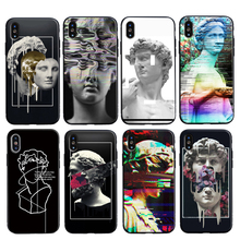 IMIDO Vintage David Graphic Phone Cases For iPhone XS XR Max X 6 6S 7 8 Plus 5 5S SE Black Soft TPU Back Cover Coque