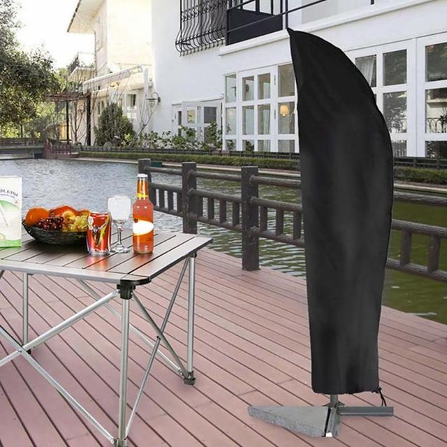 Waterproof Outdoor Umbrella Cover Garden Weatherproof Patio Cantilever Parasol Rain Accessories Black Oxford Cloth